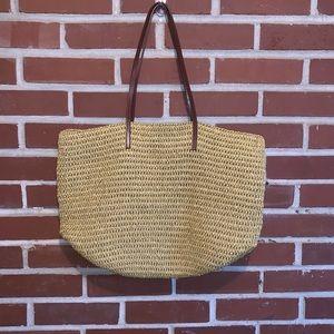 J. Crew Straw Weave Tote Bag